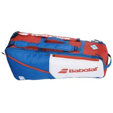 Babolat EVO 6 Pack Tennis Bag - White/Blue/Red