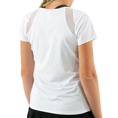 Cross Court Essentials Cap Sleeve Top Womens White 8402 CO 0110