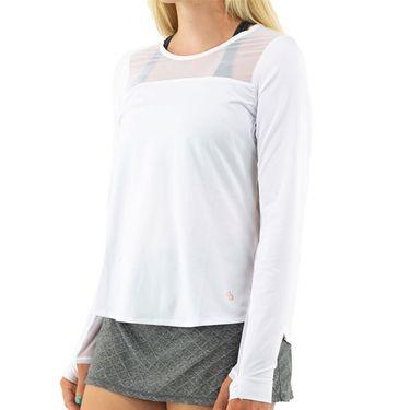 Cross Court Essentials Long Sleeve Top Womens White 8403 CO 0110