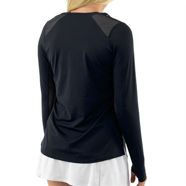 Cross Court Essentials Long Sleeve Top Womens Black 8403 CO 1000