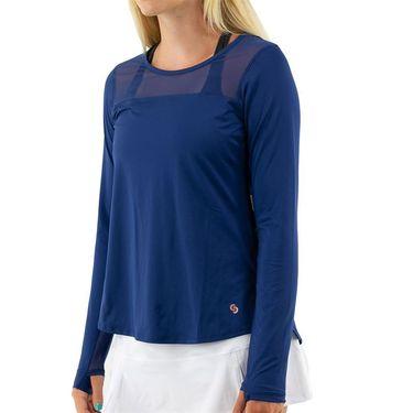 Cross Court Essentials Long Sleeve Top Womens Navy 8403 CO 8068