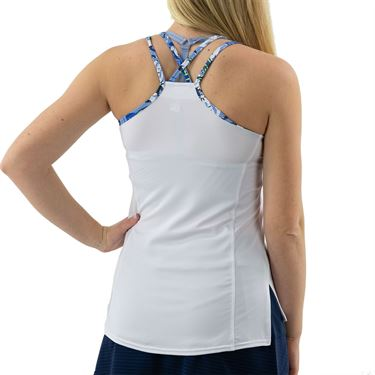 Bolle Serenity Criss Cross Strappy Tank Womens White 8407 30 0110