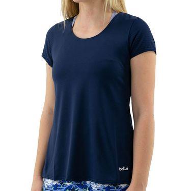 Bolle Serenity Keyhole Back Cap Sleeve Top Womens Navy 8411 8250û