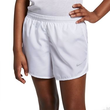 Nike Dri FIT Girls Tempo Short White/Wolf Grey 848196 102
