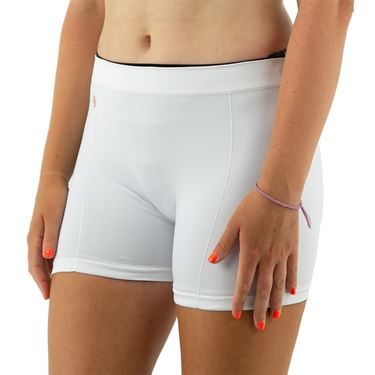 Cross Court Seamless Shortie Womens White 8503 0110