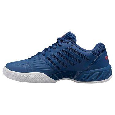 K Swiss Bigshot Light 3 Junior Tennis Shoe Dark Blue/Bittersweet/White 85366 430