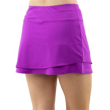 Cross Court Violet Dreams Layered A line Skirt Womens Cactus Flower 8616 3113û