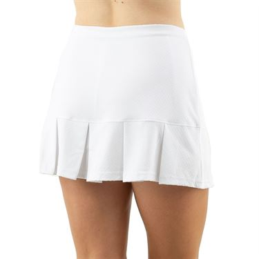 Cross Court Club Back Pleated Skirt Womens White 8633 31 0110