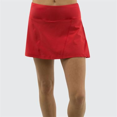 Bolle Back Pleated Tennis Skirt - Red
