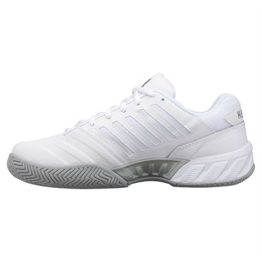 K Swiss Bigshot Light 4 Junior Tennis Shoe White/High Rise/Silver 86989 138