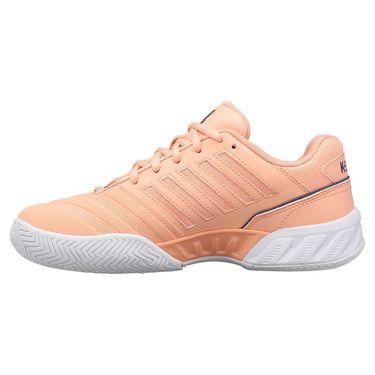 K Swiss Bigshot Light 4 Junior Tennis Shoe Peach Nectar/Graystone/White 86989 606
