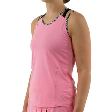 Cross Court Palm Springs Strappy Tank Womens Carnation 8729 7262