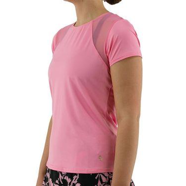 Cross Court Palm Springs Keyhole Back Cap Sleeve Top Womens Carnation 8733 7262