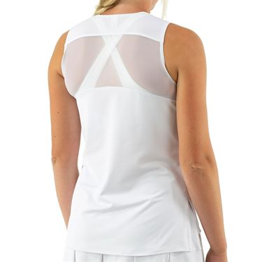 Cross Court Club V Neck Tank Womens White 8769 31 0110