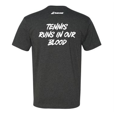 Babolat Tennis Runs in Our Blood Tee Mens Charcoal 911107 U01