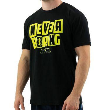 Babolat Never Boring Tee Mens Black/Yellow 911124U08