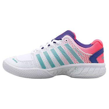 K Swiss Hypercourt Express Womens Tennis Shoe White/Liberty/Fluo Pink 93377 136
