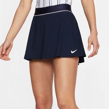 Nike Court Dri Fit Skirt Womens Obsidian/White 939318 451