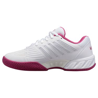 K Swiss Bigshot Light 3 Womens Tennis Shoe White/Cactus Flower 95366 126
