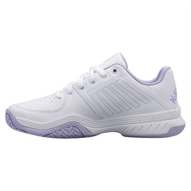 K Swiss Court Express Womens Tennis Shoe White/Purple Heather 95443 161