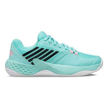 K Swiss Aero Court Womens Tennis Shoe Aruba Blue/White/Soft Neon Pink 96134 439