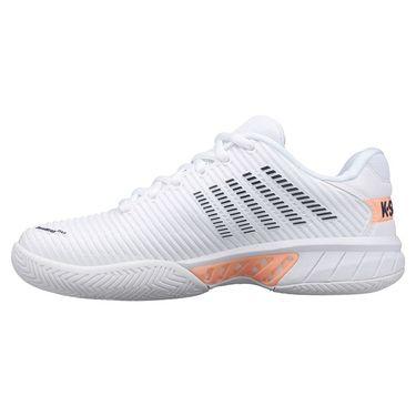 K Swiss Hypercourt Express Womens Tennis Shoe White/Peach Nectar/Graystone 96613 172