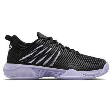 K Swiss Hypercourt Supreme Womens Tennis Shoe Black/Purple Heather 96615 016