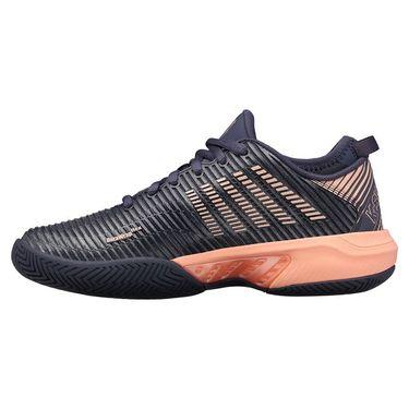 K Swiss Hypercourt Supreme Womens Tennis Shoe Graystone/Peach Nectar 96615 032