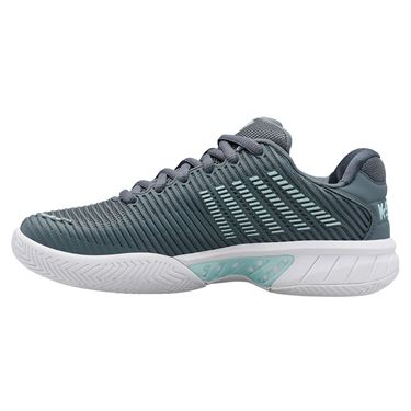 K Swiss Hypercourt Express 2 Wide Womens Tennis Shoe Stormy Weather/Icy Storm/White 96807 427