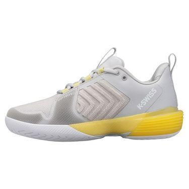 K Swiss Ultrashot 3 Womens Tennis Shoe Lunar Rock/Buttercup/White 96988 038