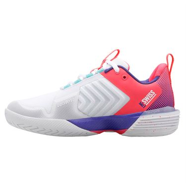 K-Swiss Ultrashot 3 LE Beach House Womens Tennis Shoe White/Blue/Pink 96988 136û