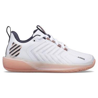 K Swiss Ultrashot 3 Womens Tennis Shoe White/Peach/Grey 96988 172
