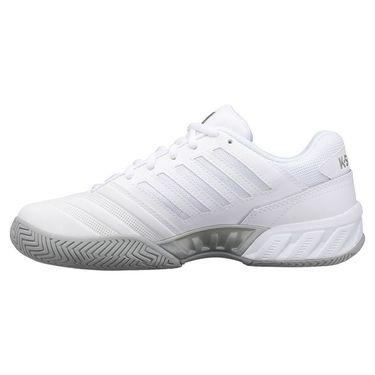 K Swiss Bigshot Light 4 Womens Tennis Shoe White/High Rise/Silver 96989 138
