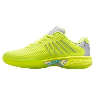 K Swiss Lucky in Love Hypercourt Express 2 Womens Tennis Shoe Neon Yellow 97382 728