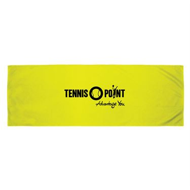 Tennis-Point Neck Towel - Yellow/Black