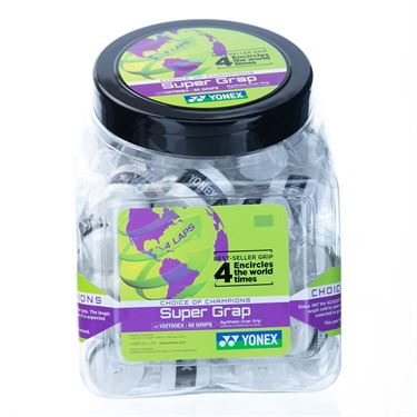 Yonex Super Grap Overgrip 60 Count Bucket - White