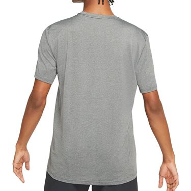 Nike Dry Tee Shirt Mens Iron Grey/Lt Smoke Grey/Heather/Black AR0196 068