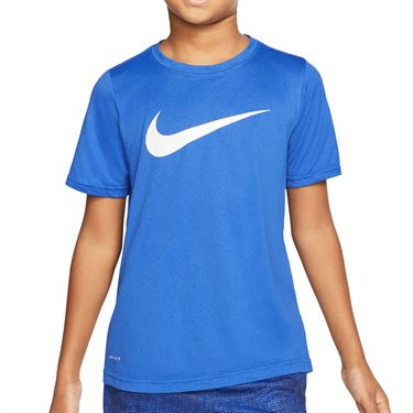 Nike Dri FIT Boys Tee Shirt Game Royal/White AR5307 481