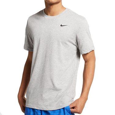 Nike Solid Training Crew Mens Dark Grey Heather/Black AR6029 063