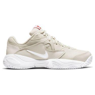 Nike Court Lite 2 Womens Tennis Shoe Light Bone/White/Lobster AR8838 006