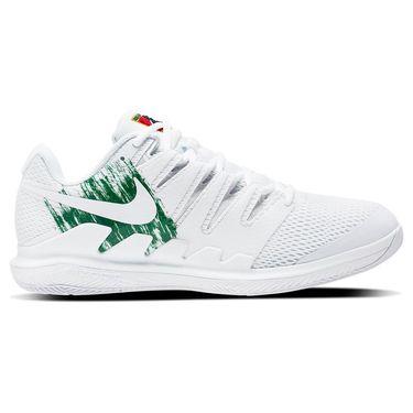 Nike Court Vapor X Junior Tennis Shoe White/Clover AR8851 102