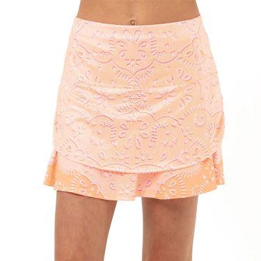 Lucky in Love Eyelet Go Girls Ruched Skirt Orange Frost B109 D03824