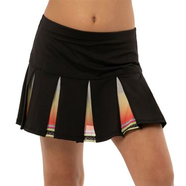 Lucky in Love Rockin Rococo Girls Rococo Box Pleat Skirt Black B110 C17001