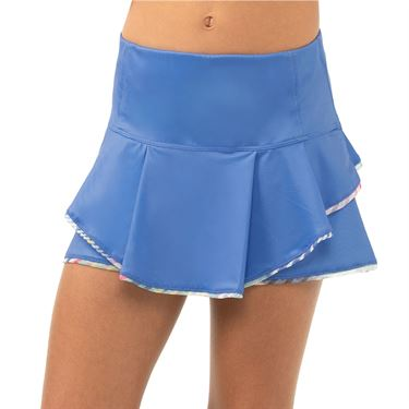 Lucky in Love Count Me In Girls I Sheer Can Border Skirt Blue Marine B126 G73430