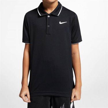 Nike Boys Court Dri Fit Polo - Black/White