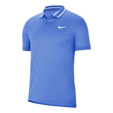 Nike Court Dri Fit Pique Polo Shirt Mens Royal Pulse/White BV1194 478