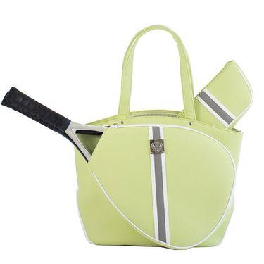 Court Couture Cassanova Striped Tennis Bag - Sage