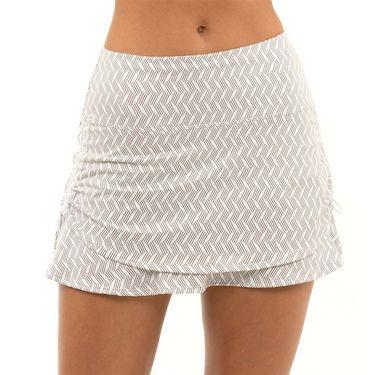 Lucky in Love Novelty On the Flow Ruche Skirt Womens White CB130 J47110