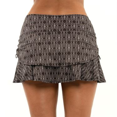 Lucky in Love Novelty Icon Ruche Skirt Womens Black CB130 J48001