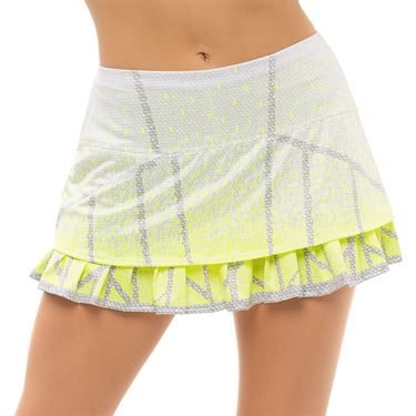 Lucky in Love Nice To Pleat You Take a Pleat Skirt Womens Neon Yellow CB19 H49710